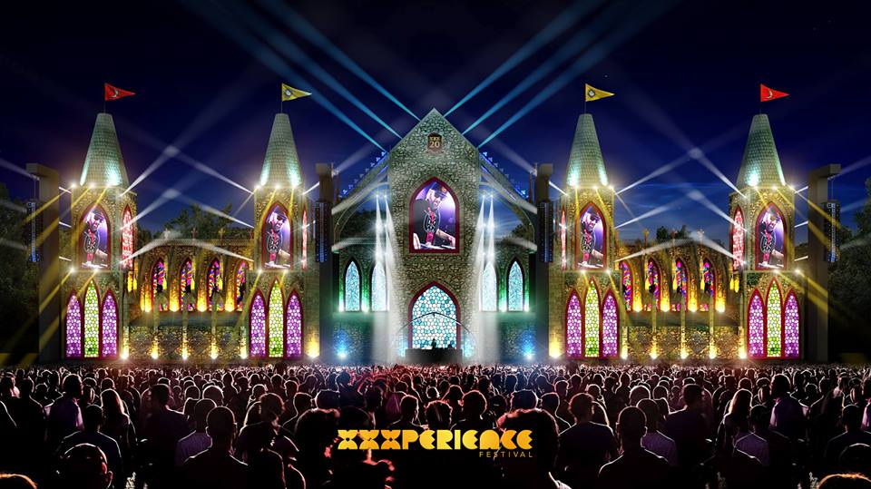 Prévia do palco principal da XXXperience • Com 60 metros de largura e 20 de altura